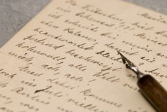 letters gammalt Royaltyfria Foton