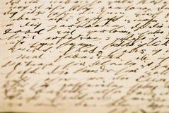 letters gammalt Royaltyfri Foto