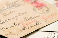 letters gammalt Fotografering för Bildbyråer