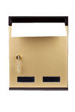 Letters in gilded mailbox Royalty Free Stock Images