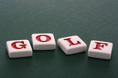 Letters Golf Stock Image