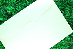 Letters on grass. Letters on green  artificial grass Stock Images