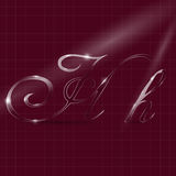 Letters H Writing in Italics Royalty Free Stock Images