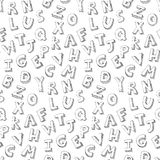 Letters hand written pattern Stock Image