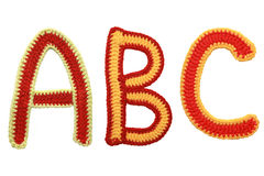 Letters handmade knitted Royalty Free Stock Photography