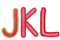Letters handmade knitted Stock Photography