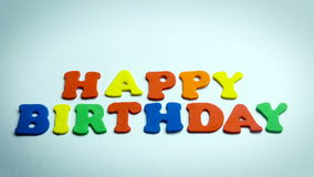 Letters Happy Birthday in White Background stock video footage
