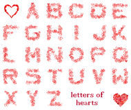 Letters of hearts Stock Photos