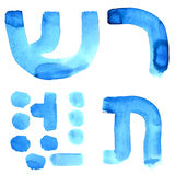 Letters of hebrew alphabet Royalty Free Stock Image