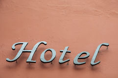 Letters of a hotel Royalty Free Stock Photos