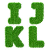 Letters I J K L isolated on white, ecology concept, 3d illustration Royalty Free Stock Photo