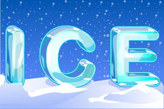 Letters ICE Stock Image