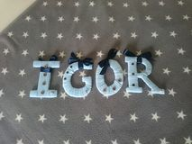 Letters igor Stock Photo