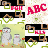 Letters illustration seamless pattern patchwork background Royalty Free Stock Photos