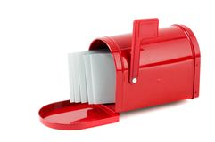 Letters In Red Mailbox Royalty Free Stock Photos