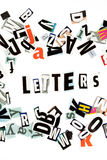 Letters inscription Royalty Free Stock Photography
