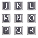 Letters j to r. Computer keyboard buttons letter j to r Stock Image
