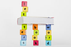 Letters are the key to the world of knowledge Stock Image