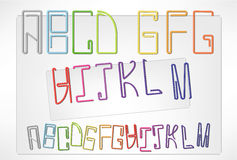 Letters klämmer fast (A-M) Royaltyfri Fotografi