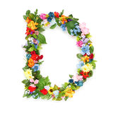 Letters of leaves and flowers. Letters made of leaves and flowers Royalty Free Stock Photo