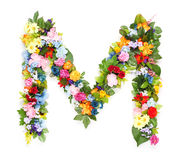 Letters of leaves and flowers. Letters made of leaves and flowers Stock Image