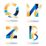 Letters logo elements Royalty Free Stock Photos