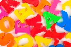 letters mångfärgat Fotografering för Bildbyråer
