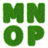 Letters M N O P isolated on white, ecology concept, 3d illustration Stock Images