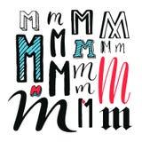 Letters M Set Stock Photos