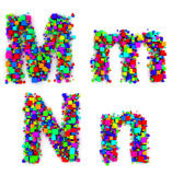 Letters made of colorful boxes Royalty Free Stock Photography
