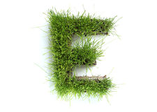 Letters made of grass Stock Photography