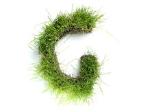 Letters made of grass