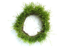Letters made of grass Royalty Free Stock Image