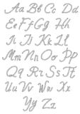 Letters made from nautical rope. Hand written alphabet. Vector illustration Royalty Free Stock Image