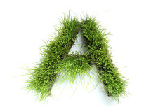 Letters Made Of Grass Stock Photos