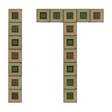 Letters IT made of old and dirty microprocessors Royalty Free Stock Photography