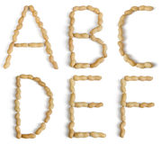 Letters Made of Peanuts Royalty Free Stock Photos