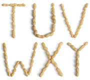 Letters Made of Peanuts Stock Photo