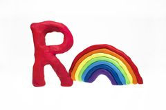 Letters made from Play Clay with some visualizations. High quality photo Stock Photos