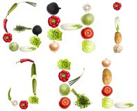 Letters made of vegetables Stock Photography