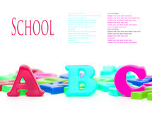 letters magneten Arkivfoto