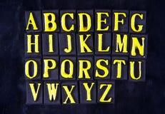 letters magnetiskt royaltyfri bild