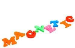 letters magnetiskt royaltyfri fotografi