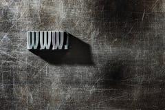letters metalliskt gammalt Arkivfoto