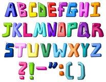 letters multicolor royaltyfri illustrationer