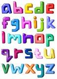 letters multicolor litet vektor illustrationer