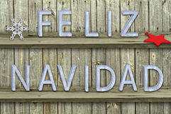 Letters navidad on wood  background Stock Images