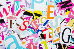 The letters from newspapers close up Royalty Free Stock Image