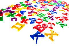Letters and numbers Stock Photography