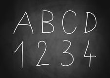 Letters and numbers Stock Image